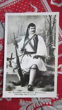 cpa grece greece florina costume guerrier grec militaire