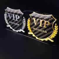 1x 3D Car Side Metal Badge Car Emblem Car Decal Sticker Fit  For VIP Motors