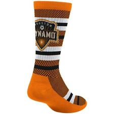Houston Dynamo MLS Adidas Men's Stripe Polka Dot Pattern Orange Crew Socks