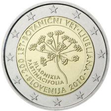 2 EURO COMMEMORATIVE DE SLOVENIE 2010 UNC - JARDIN BOTANIQUE DE LJUBLJANA