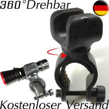 Fahrradhalterung LED Taschenlampe Halterung 360° drehbar Lampenhalterung Front