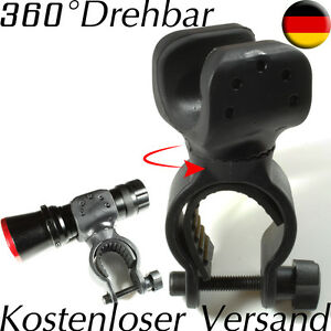 Fahrradhalterung für Pure² Cree Q5 7W LED Taschenlampe Halterung 360° Drehbar