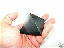 Jet Black Tourmaline Pyramid Stone India Handcrafted 1.25 - 1.5 inch approx. A++