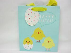 Happy Easter Gift Bag Medium 21.5cm x 25cm Cute Chicks Design Free P&P