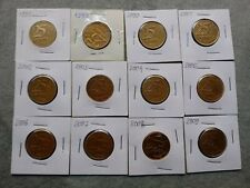 Brazil Coins 0,25 Cents CONSECUTIVE Set (26 coins) Serial Coins -1994 to 2020