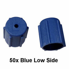 50x A/C Charge Port Service Cap Blue Low Side M8x1.0 R134A Fit MT0063 (I.D 13mm)