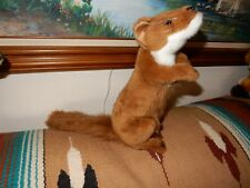 RARE HANSA TOY SITTING UP & BEGGING RED FOX  2010 PLUSH STUFFED  animal