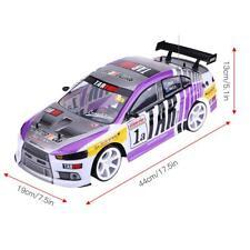 RC voiture 70 km / h 1/10 blanc + violet exquise et durable Télécommande