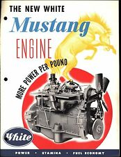 Vintage 1951 White Truck Mustang Engine Brochure / Sales Literature / Ad