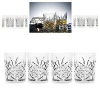 Crystal Whiskey Glass Glasses Set Classic Double Glassware Whisky Vintage 4 Pack