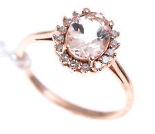 Ring Gold Morganite Diamond Engagement Rose Natural Valuation 10k 10ct Diamon...