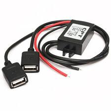 Transformador Convertidor Corriente 12V A 5V 3A 15W DC Coche Cable USB