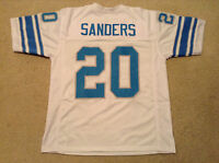 UNSIGNED CUSTOM Sewn Stitched Barry Sanders White Jersey - M, L, XL, 2XL