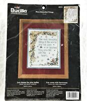 Bucilla - 14 Count Cross Stitch Kit - MOST BEAUTIFUL THINGS - From 2003