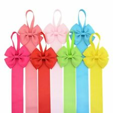 7pcs Grosgrain Bow Tie Hair Clip Barrettes Holder Organizer Storage Hanger Baby