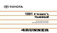 1991 Toyota 4Runner Owners Manual User Guide Reference Operator Book Fuses