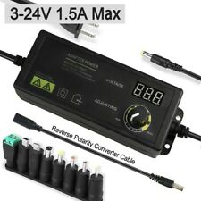 15a Adjustable Power Adapter 3 24v Ac Dc Black Display Supply Voltage