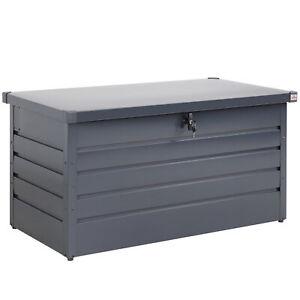 Auflagenbox Metall Gerätebox Aufbewahrungsbox 2 Gasdruckfedern Kissenbox Garten