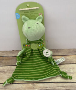 Green Sprouts Bear Baby Striped Knotted Corners Security Blanket Lovey Organic