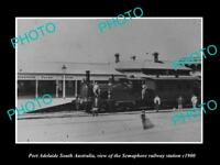 OLD LARGE HISTORIC PHOTO OF PORT ADELAIDE SA THE SEMAPHORE RAILWAY STATION 1900