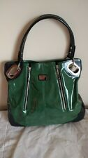 Beijo Green and Black Pearlescent Finish Hobo Bag w/Cover - EUC