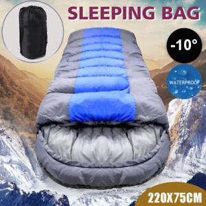 New Single Outdoor Camping Waterproof Sleeping Bag Hiking Winter 220x75cm