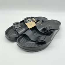 New American Eagle Black Leather Sandals Men's -Size 8 NWT