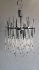 Modernist Chandelier Italy made design 70 glass pendant vintage suspension lamp