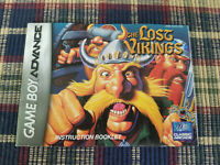 The Lost Vikings - Authentic - Nintendo Game Boy Advance - GBA - Manual Only!
