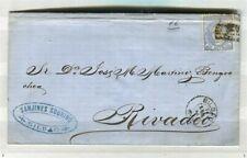 España; 1870s Clásico temprano Ceres 50m. carta local/Cubierta bien usada, Bilbao
