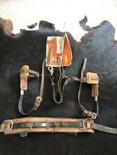 Linemans Climber Set, Belt, Safety Strap, Leg Irons, Gaffs, File, Spare Gaffs
