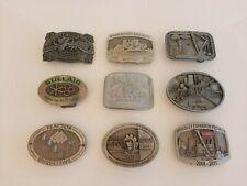 Bulk Lot 9x Collectable Belt Buckles Mining, Bourbon, Promotional, Commemorative