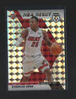 KENDRICK NUNN  2019-20 Panini Mosaic #268 NBA Debut  SILVER PRIZM RC  Miami Heat