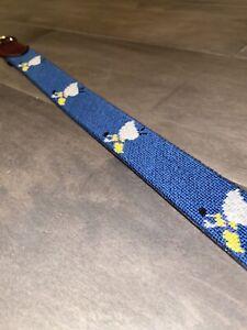 Winged Foot Golf Club Needle Golf Needlepoint Belt Size 38