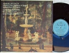 Manuel De Falla Gonzalo Soriano Nights in gardens of Spain US LP '63 Angel EX