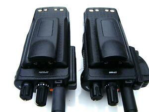 2 X SMALL BELT CLIPS FOR THE MOTOROLA DP3400 DP4400 DP4600 DP4800 TWO WAY RADIOS