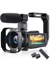 4K Video Camera Camcorder, Vlogging 48MP 60FPS YouTube WiFi...