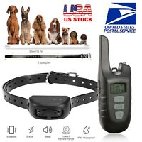 Dog Shock Training Collar Rechargeable Remote Control Waterproof RC 1640FT