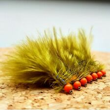 Chartreuse Hothead kicking Damsel Lure size 10 Fly Fishing Flies Trout