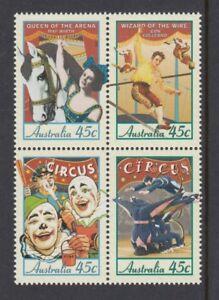 Australia 1997 CIRCUSES IN AUSTRALIA Block of 4 MNH Price $2.50