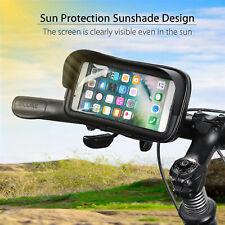 Motorcycle Bike Bicycle Handlebar Waterproof Shade Phone GPS Holder Mount Case