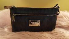 Michael Kors Jet Set Travel Signature Top Zip Wristlet Bag Pouch Black