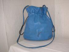 PRINTEMPS Vintage Petit sac à main / Bourse cuir bleu