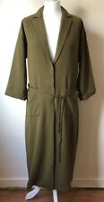 BNWT Monki Green Khaki Oversized Thin Trench Coat Jacket Size S