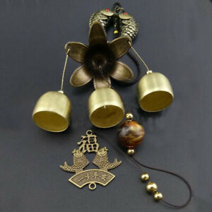 Chinese 3 Bells Lucky Feng Shui Hanging Wind Chime Yard Garden Outdoor Decor