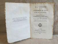 la vérité sur les événements de Lyon en 1817 par le Comte de Fargues