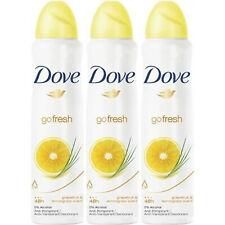 Dove GoFresh Grapefruit&Lemongrass Deodorant&Body Spray 48H FRESH 150ml Pack 3