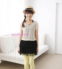 "Japan ""Earth music & ecology"" 2in1 Lace Mesh Ballerina Dress! Black"
