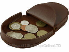 NEW Handy Mens Gents Leather Coin Tray Change Holder Wallet Purse in 5 Colours
