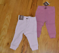 NWT Tea Collection Baby Girl Pink Pants Rose or Mauve Leggings 0-3, 3-6, 6-9 Mos